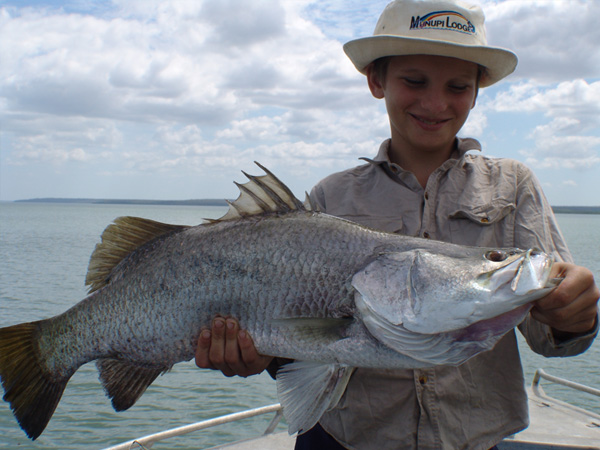 Fish caught by kid