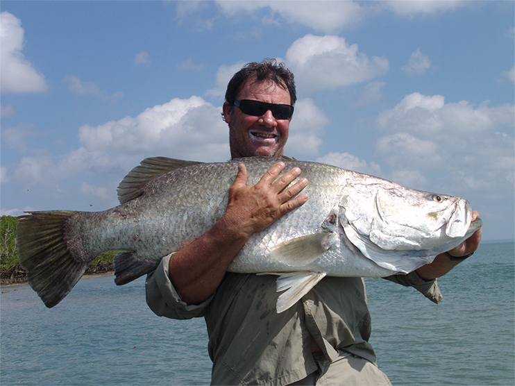 Man with even bigger fish